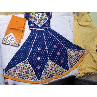 Navratri Special Chaniya Choli for Adults - Free Size (Blues  Yellow)