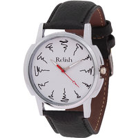 Relish Analog Leather Casual Wear Watch For Men - 82914667