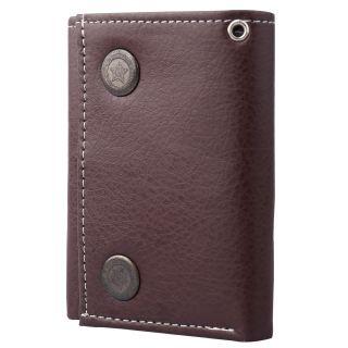 Tri Fold Genuine Leather Brown Wallet