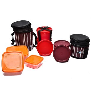 Nayasa Vital Tiffin Set ( Maroon)
