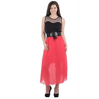 Black Rani Pink Long Dress