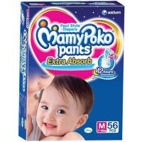 Mamy Poko Extra Absorb Pant Style Diaper Medium - 56 Pieces