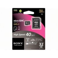SONY MICRO SD 16GB MEMORY CARD Class 10 SR-16UYA + Adapter 40 MB/s