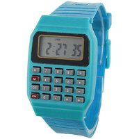Pappi Boss Unisex Blue Calculator, Date  Time Watch