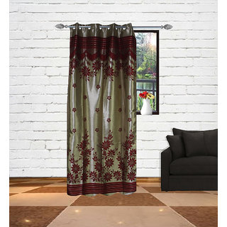Gaurav Curtain Gold touch supremo panel Polyster Curtain 2pcs
