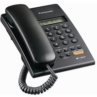 Panasonic Corded Phone KX-TSC62SX Black Landline Caller ID Full Speaker Phone