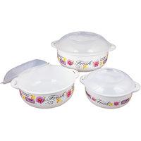 Joyo 5 Pcs Cook-n-Serve Microwave Set - Yellow (3 Bowls,2 Spoons)