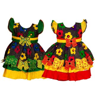 Wajbee Staggering Girls Fancy Frocks Set Of 2 (WFBP2-24)