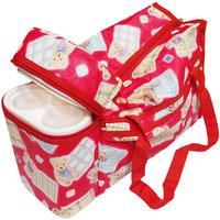 Wonderkids Teddy Print with Warmer Nursery Bag (Multicolor)