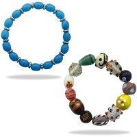 Beadworks Blue Bracelet For Women ( Combo )