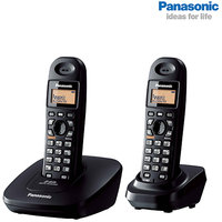 Panasonic KX-TG3612 Dual Unit Cordless Phone With Intercom  Conference Facility