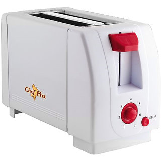 Chef Pro CPT540 700 Watts Pop-up Toaster - White