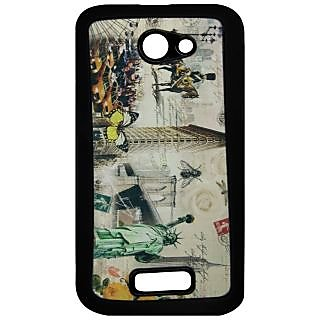 Mobile Back Cover ZT12828 Multicolor 3D Rubberised Soft Mobile Back Case for Micromax Unite A092