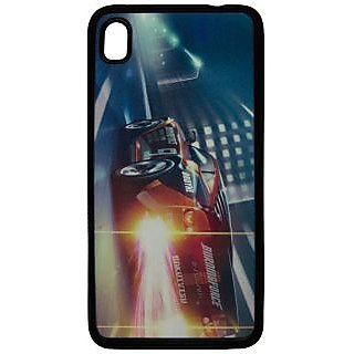 Back Cover ZT13445 Multicolor 3D Rubberised Soft Mobile Back Case for Micromax Canvas Fire2 A104