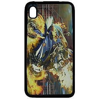 Back Cover ZT13446 Multicolor 3D Rubberised Soft Mobile Back Case for Micromax Canvas Fire2 A104