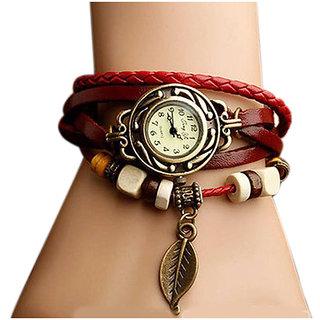 Bracelet Leather Strap Analog Watch - Women