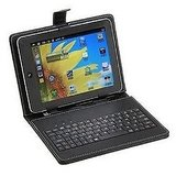 Universal 10 Inch Tablet Keyboard With Leather Case