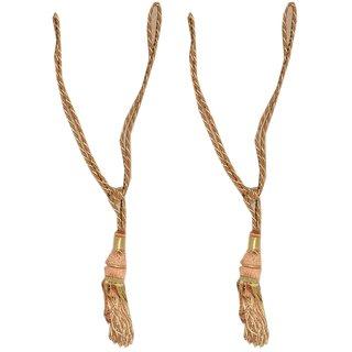 Curtain tie back-(set of 2)- rust
