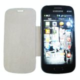 Premium Leather Flip Case Cover For Samsung Galaxy S Duos S7562 White
