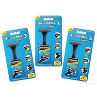 Supermax Swift 3 Razor With 5 Cartridge(Pack of 3)