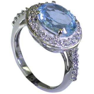Riyo Blue Topaz Hammered Silver Silver Stacking Ring Sz 5.5 Srbto5.5-10005