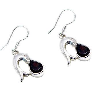 Riyo Garnet Silver Jewelry Stores Chandelier Earrings L 1in Segar-26041