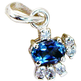 Riyo Blue Topaz Special Silver Jewellery Elephant Pendant L 0.7in Spbto-10026