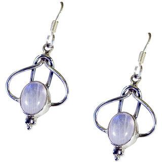 Riyo Rainbow  Handmade Jewelry Silver Spring Hoop Earrings L 1.5in Sermo-64055