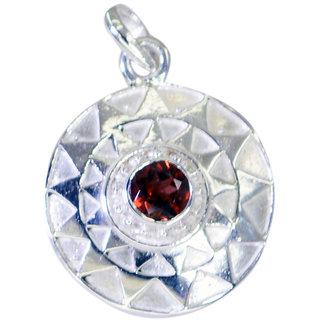 Riyo Garnet Jewellery Silver Pendant Earring L 1in Spgar-26081