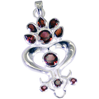 Riyo Garnet Pure Silver Jewelry Ballerina Pendants L 2in Spgar-26117