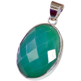 Riyo Green Onyx Silver 925 Jewelry Braided Pendant L 1in Spgon-30001