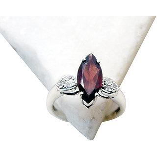 Riyo Garnet Chunky Silver Jewelry Birthstones Ring Sz 7 Srgar7-26146
