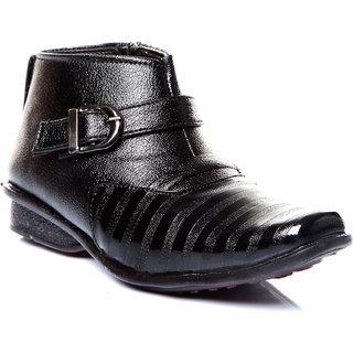 Trilokani Stylish Formal Kids Shoes (TFC02BLACK)