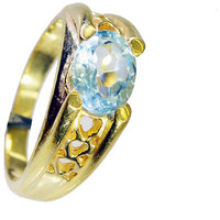 Riyo Blue Topaz Cz Jewellery Gold Plated Engagement Ring Sz 8 Gprbtcz8-92078
