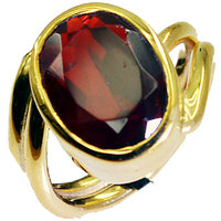 Riyo Ruby Cz Jewellery Gold Plated Birthstones Ring Sz 6 Gprrucz6-104023