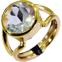 Riyo Dichroic Glass Gold Plated Jewellery Guard Ring Sz 8 Gprdgl8-22003