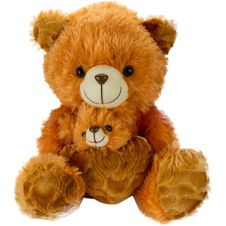 Glitters Cute  Mother Baby  Teddy (G-Mumbaby-MUS-BRN)