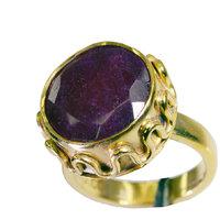 Riyo Indi Ruby Gold Plated Jewellery Ecclesiastical Ring Sz 6.5 Gpriru6.5-34046