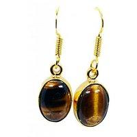 Riyo Tiger Eye 18 Kt Gold Plated Rajasthan Jewellery L 1.5in Gpetey-80008