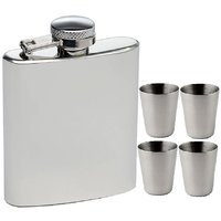 Hip flask 7 oz with 4 shot glasses