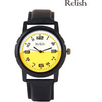 Relish Analog Leather Casual Wear Watch For Men