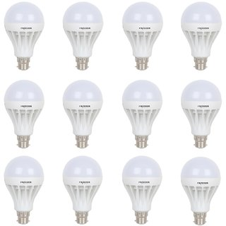 Frazzer 12watt LED Natural White Bulb (Pack of 8 with 4 Bulbs free)