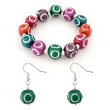 Villcart Ceramic Bead Bracelet And Earrings Set Vogue