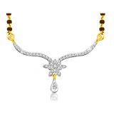 Sparkles 18kt Gold And Real Diamonds Mangalsutra N9263