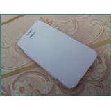 XOLO Q800 Faux Leather Battery Back Replace Flip Cover Case-White