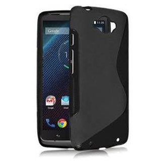 Moto Turbo Back Case / Cover - Premium Flexible S-Line TPU - Black by Cool Mango (TM)