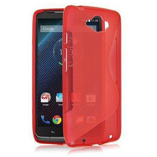 Moto Turbo Back Case / Cover - Premium Flexible S-Line TPU - Red  by Cool Mango (TM)