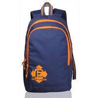 F Gear Castle Navy Blue Orange Rugged Base Backpack