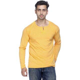 Demokrazy Full Sleeve T Shirt For Men Yellow 1141411
