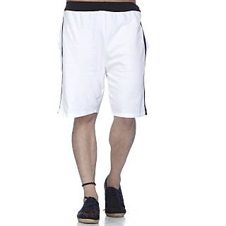 Demokrazy White Shorts For Men 6695855